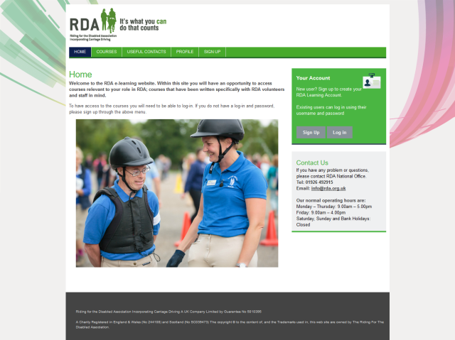 RDA e-learning login