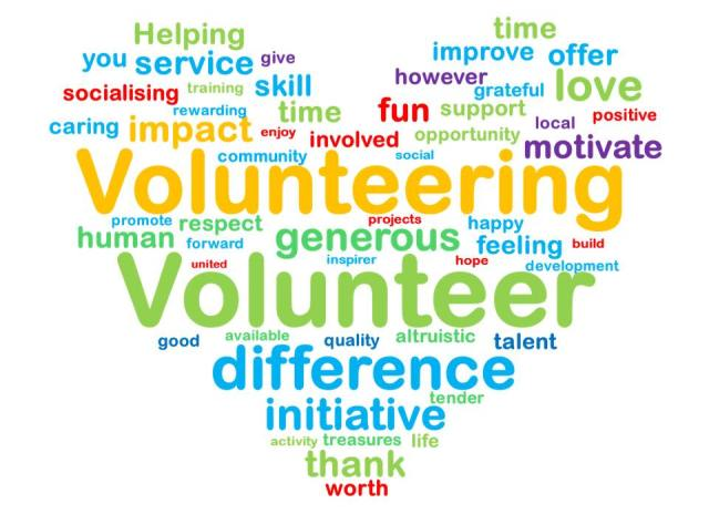 volunteer word image